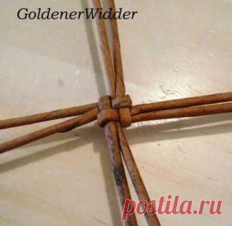 Плетение из газетных трубочек: Плетение круга из 8 лучиков. Круглое дно. Круг.