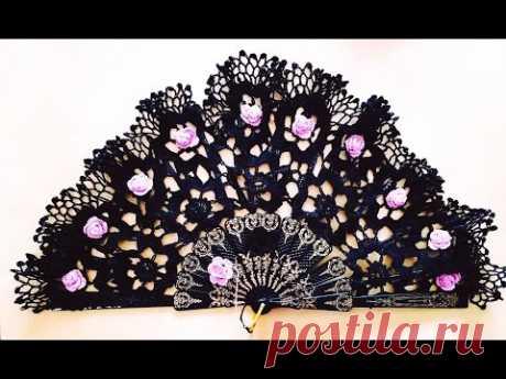 Tutorial Abanico Floral Tejido a Crochet Handmade Crochet FAN