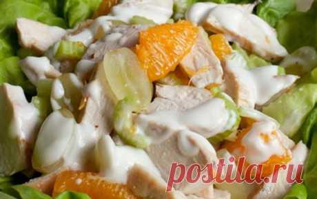 Салат для похудения из куриной грудки с фруктами « Рецепты салатов