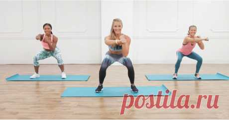 A Kickass Cardio Workout With Weights —Yeah, You're Going to Sweat! Grab a pair of free weights, and get ready to torch calories with this challenging at-home cardio workout from trainer Danielle Pascente, creator of the