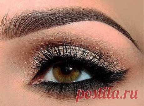 Фото-урок по созданию макияжа для карих глаз.