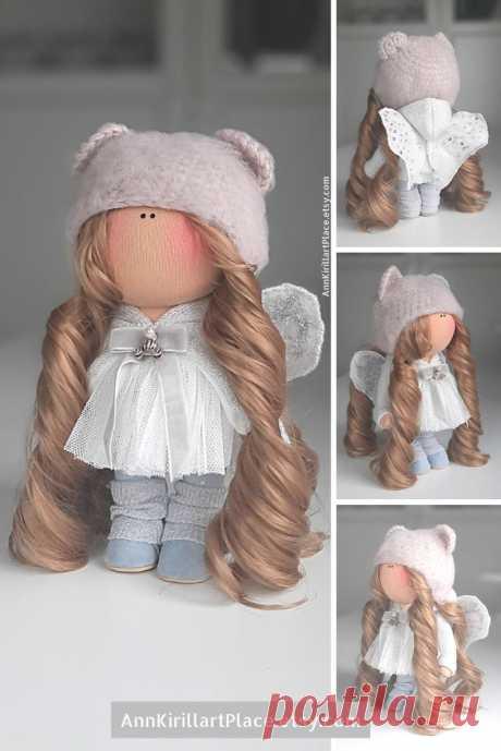 Christmas Angel Decoration Doll Winter Nursery Design Doll | Etsy