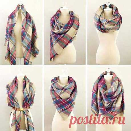 Как повязать шарфик на шее, чтобы осенью выглядеть элегантно и со вкусом | Блогер на пенсии | Яндекс Дзен
