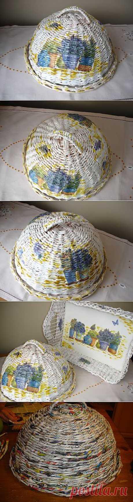 (+1) тема - Кухонный набор из газетных трубочек , мк Екатерины Сиенска | СВОИМИ РУКАМИ