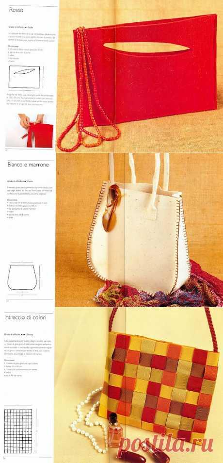 Сумочки из необычных материалов (траффик, багаж) / Сумки, клатчи, чемоданы / Модный сайт о стильной переделке одежды и интерьера