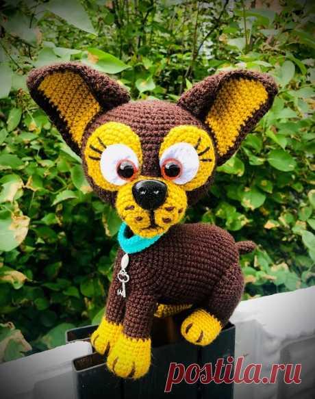 Вязаная собачка Нюша схема крючком | Hi Amigurumi