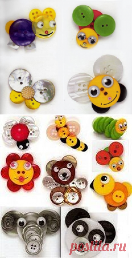 Button figures of animals and not only for our children.