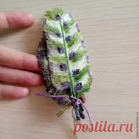 Создание текстильных перьев