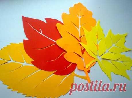 Осенние листья из бумаги + шаблоны и трафареты для вырезания Привет! Одна из вещей, за которую мы любим осеннее время года — это непередаваемая красота листвы на деревьях! Осенние листья