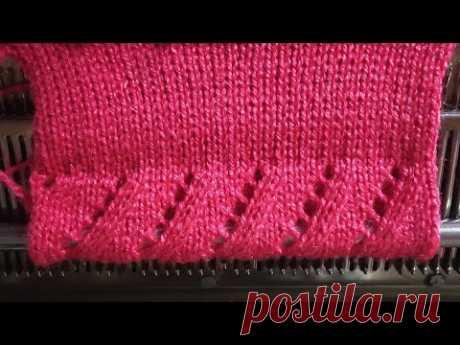 Border design in knitting machine #11(निटिंग मशीन में बोडर डिजाइन #11)