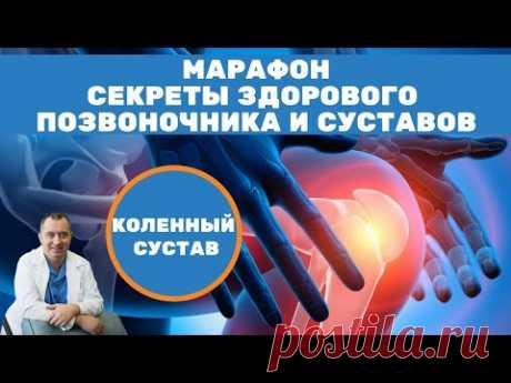 """Коленные суставы! Марафон """"Секреты здорового позвоночника и суставов"""" от Доктора Шишонина. - YouTube Упражнения и эффективные способы избавления от боли коленных суставах."""