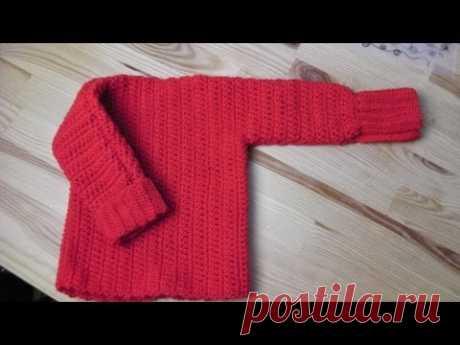 Sweater pullover lefty crochet tutorial