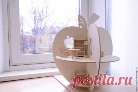 Полка-яблоко из картона...