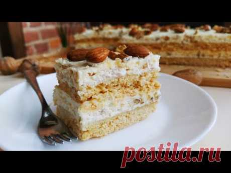 Песочный торт с безе и орехами (РЕЦЕПТ ОЧЕНЬ ХРУСТЯЩЕГО БЕЗЕ)