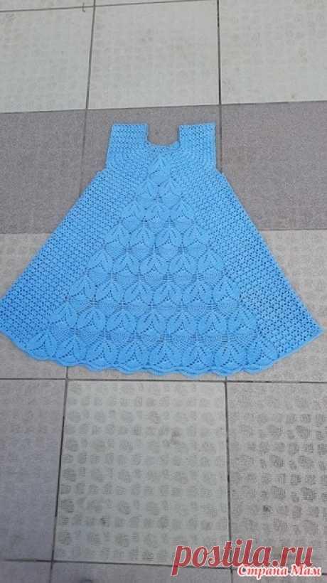 Летний сарафан для внучки - Вязание для детей - Страна Мам