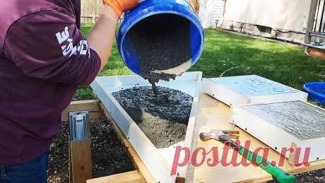 Как сделать форму и изготовить бетонную крупноформатную плитку быстро и качественно Если вы решили облагородить свой участок плиткой, но сомневаетесь, сможете ли потянуть такое вложение финансово, тогда попробуйте ее не покупать, а изготовить своими руками. В таком случае цена вопроса будет заключаться только в потраченном времени, песке, цементе и ЛДСП для сборки форм. Это более