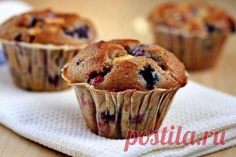 Любите кексы? Смородино-вишневые кексы — Вкусные рецепты
