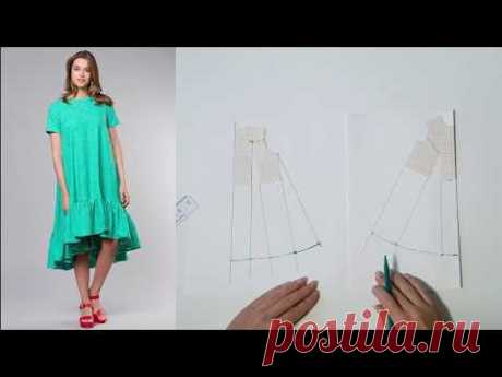 El vestido el trapecio la Modelación