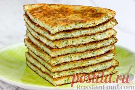 Рецепт: Творожные лепёшки с сыром и зеленью на RussianFood.com