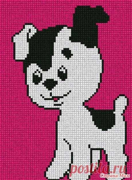 Собачки. Вышивки крестиком Без схем - Страна Мам