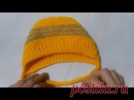 МК Шапочка для малыша Вязание спицами