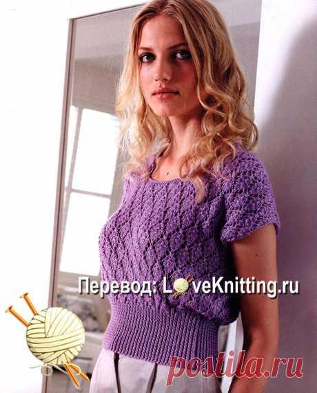 """Пуловер """"Дельфина"""" из категории Интересные идеи – Вязаные идеи, идеи для вязания"""