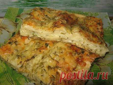 Быстрый вкусный сырный пирог из лаваша.