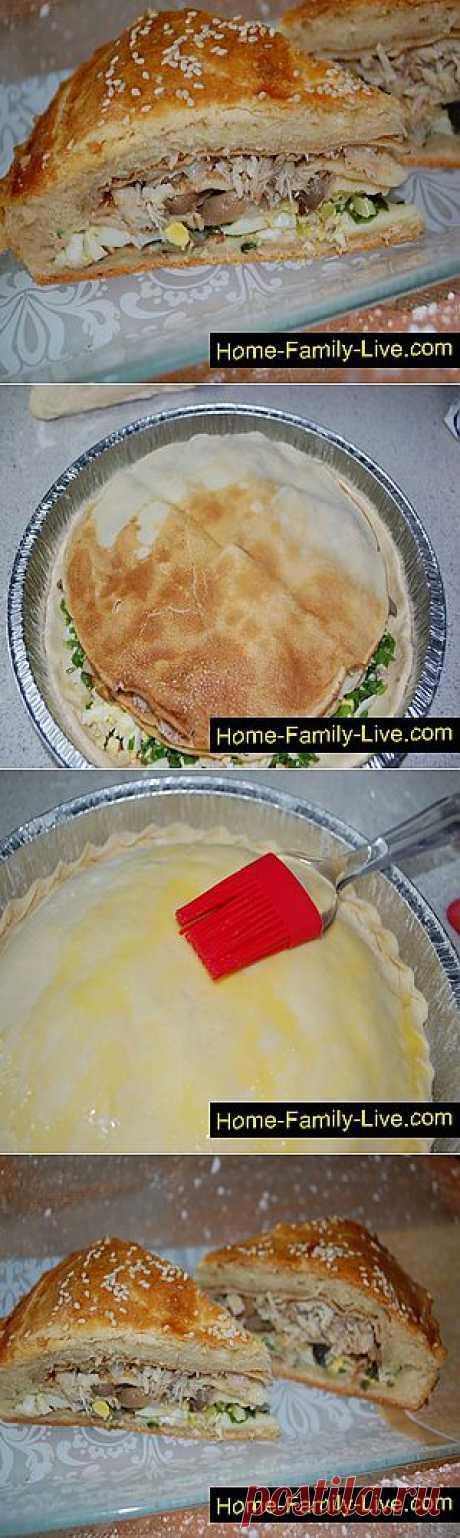 Кулинарные рецепты Курник с курицей и грибами » Кулинарные рецепты
