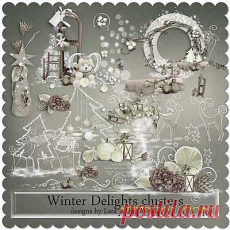 Зимний скрап-комплект - Восхитительная зима » ШКОЛА ПЛЮС