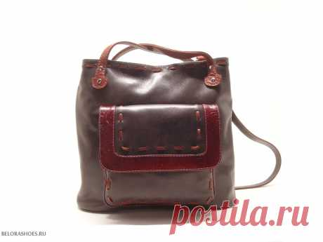 Сумка-рюкзак женская Трио 2 Удобная сумка из натуральной кожи с двумя независимыми отделениями