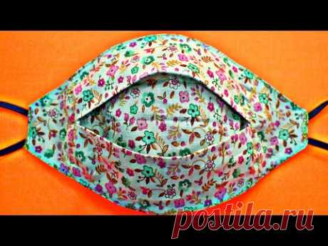 (New Style) Face Mask Sewing Tutorial - Make Fabric Face Mask At Home - DIY Cloth Face Mask