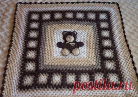 Мотивы с медвежатами для пледов крючком   38 рукоделок   Яндекс Дзен