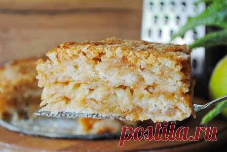 Насыпной яблочный пирог – пошаговый рецепт с фотографиями