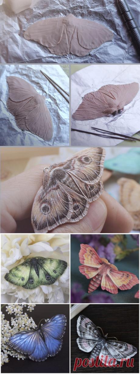 Бабочка из полимерной глины: пошаговый мастер-класс, фото и трафарет