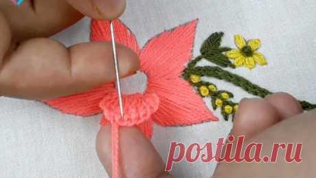 Вышиваем объемные цветочки: мастер-класс