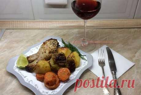 Куриные ножки с овощами в духовке – самый вкусный рецепт