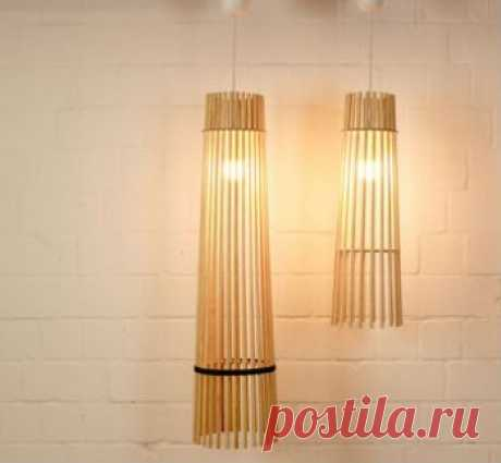 Лампа из деревянных палочек своими руками — Своими руками