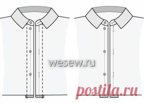 Как построить выкройку основы мужской сорочки Застежка