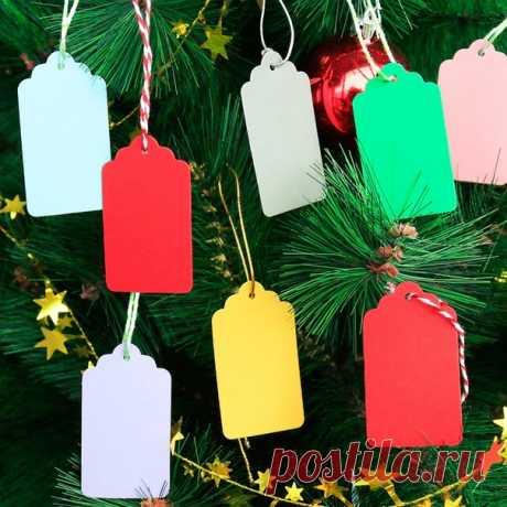 Бирки для новогодних подарков партия 50 штук =======================  https://s.click.aliexpress.com/e/UG8t2C2?product_id=4..