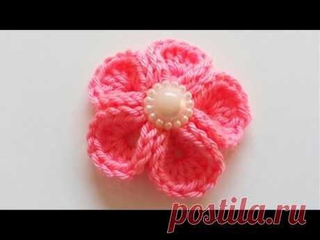 سمسم (25) كروشيه وردة سهلة How to crochet a flower