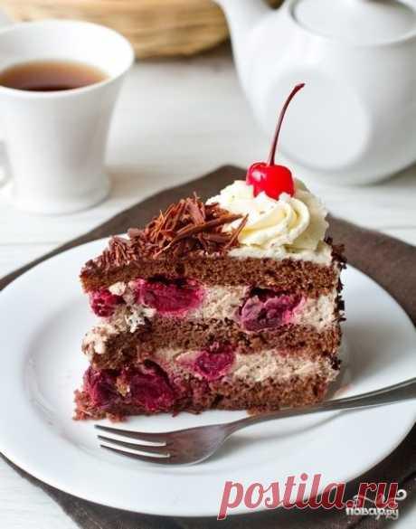 """Торт """"Черный лес"""" - пошаговый рецепт с фото на Повар.ру"""