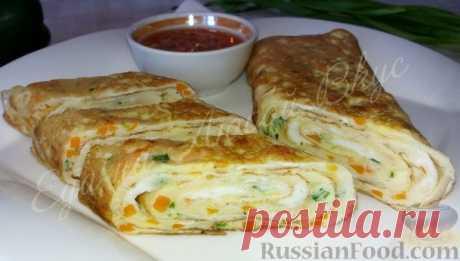 Рецепт: Яичный ролл (на завтрак) на RussianFood.com