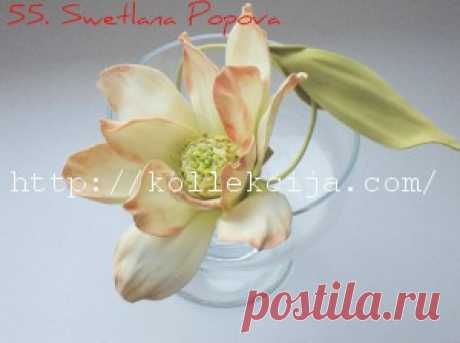 Цветок из фоамирана - мастер-класс   Своими руками — интернет журнал