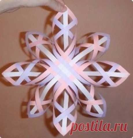 Объемная снежинка  А вы уже сделали свою?