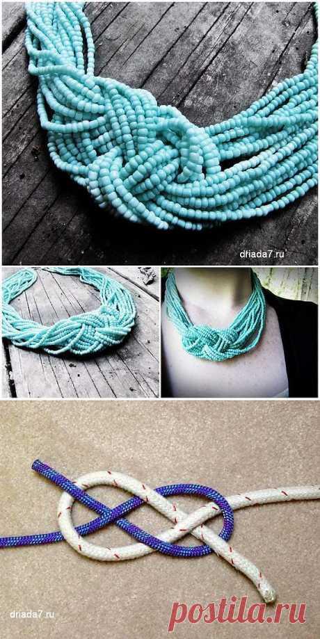 Ожерелье и браслет из бисера .