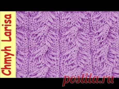 ▶️ the Pattern the TURKISH BRAID spokes with the extended loops. Pattern spokes No. 39. Knitting by spokes with Larisa Chmyh