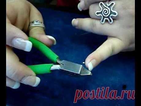 Учимся работаться с обжимными кольцами, инструменты для них - Бисероплетение
