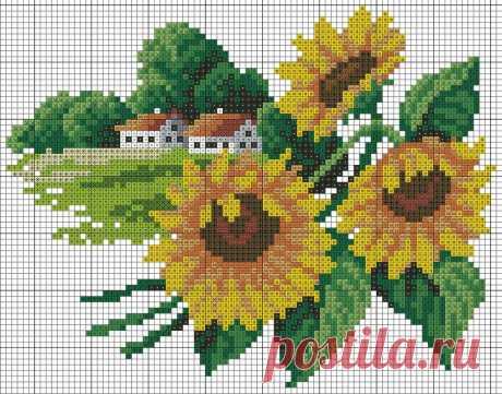 Вышиваем крестиком круглый год — цветочный календарь(схемы)