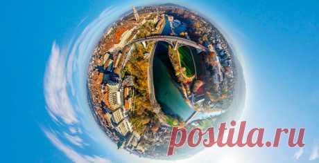 Самый красивый город страны по мнению самих швейцарцев — с высоты птичьего полета.