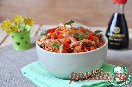 Салат из куриного филе с морковью по-корейски - кулинарный рецепт